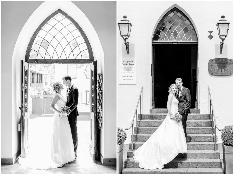helle, elegante, Sommer, weißer Turm, Heirat